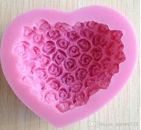 Wholesale 1PCS Silicone Cake Mold Bakeware Decorating Gum Paste Fondant Clay Soap Mold Rose Shaped top sale