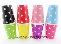 big paper cups - Big Sale Packs Disposable Polka Dot Paper Cups for Christmas Decoration