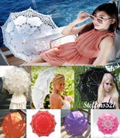 Wholesale 2015 New colors Vintage Palace Style Full Lace Parasol Umbrella for Wedding Bridal Battenburg high quality