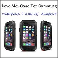 Cheap Original Love Mei Extreme Case Metal Armor Cover Gorilla Glass Aluminum Heavy Duty Hybrid Waterproof for Samsung Galaxy S5 S4 Note 3 Mega