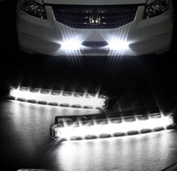 8 LED car lights - Super White LED Super Bright White DRL Car Daytime Running Light Head Lamp Universal IP67 Waterproof Day Lights Running Head Lamp