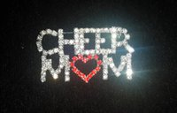 Men's cheer gifts - bling word pins rhinestone brooches pins unique gift CHEER MOM Pin