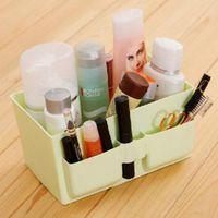 Wholesale 2016 new Clear Makeup Organizer plastic Cosmetic Organizer Holder Storage Box Lipstick Make up Organizers