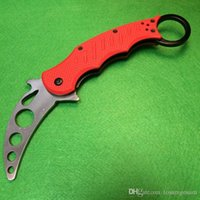 Cheap Red Edition Fox Claw Karambit Training knife G10 Handle Folding blade Outdoor 3300 BM42 Pocket hunting knife camping knife knives