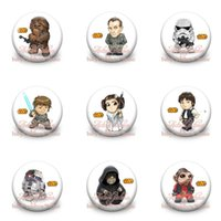 Wholesale 90pcs Star wars mm Diameter Buttons Pin Badges Pins New Pinbacks Round Brooches Badges clothes decoration kid Christmas party gift
