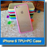 Pour iPhone 6 Case iPhone 6 Plus Étui Mat PC + TPU Soft Transparent Transparent Gel Housse Étuis pour iPhone 6 5 5S Bumper Case