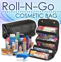 wholesale pvc cosmetic bags - Roll N Go Lady s Travel Large Capacity Multi Functional Organizer Cosmetic Bags Jewelry Storage Make Up Bag