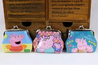 3d holiday gifts - Top Quality D Cartoon pepa pig coin purse with iron button shell bag wallet Purses coin children Gifts For Holidays