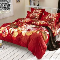 Wholesale China big Flower style wedding bedding sets for double bed doona Duvet cover bedsheet pillowcases Cotton Fabric