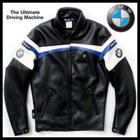 jacket racing - NEW TOP PU racing jacket motorbike racing cool motor jacket classic Motorcycle Auto Racing BMW JACKET S XL black
