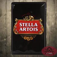 aluminum items - STELLA ARTOIS Wine Metal Posters PUB Home Decoration Vintage Sticker Wall Sign Art CM Mix Items