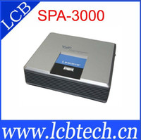 Wholesale Unlocked Linksys SPA3000 voip adapter ATA VoIP with one FXS and one FXO