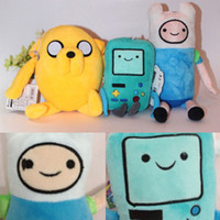 adventure time toys plush - 3 Styles Cartoon Adventure Time with Finn and Jake Plush toy NEW children BMO Stuffed dolls super cute gift B001