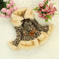 coat - New Arrivals Children s Outwear Leopard Girls Trench Coats Baby Winter Top Quality Clothes Kids Popular Cotton padded clothes with Belt