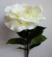 arificial flowers - High quality arificial flower Big rose in white