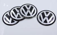 Wholesale New Car VW Stickers Wheel Center Fits Volkswagen Hub Cap Stickers mm BLACK VW wheel center emblems