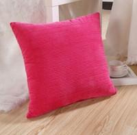 Wholesale New Arrive Colorful Corn Kernels Corduroy Sofa Decor Throw Pillow Case Cushion Cover Square Office Back Car Cushion