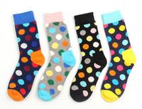 Wholesale 2016 New Happy socks style fashion high quality men s polka dot socks men s casual cotton socks colors