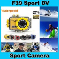 Wholesale Go Pro F39 Action Sport Camera with WIFI Control By Phone Tablet PC P FHD M Waterproof video camera WiFi DV Camcorder