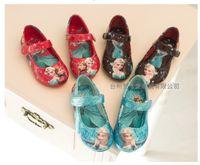 Wholesale 2015 frozen New Elsa princess D print shoes girls dance sneakers Cartoon elsa shoes