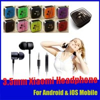 Wholesale 3 mm Universal Metal Xiaomi Headphone Earphone Noise Cancelling In Ear Headset For Samsung HTC Huawei HTC LG SONY iphone With Retail Box