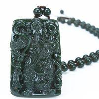 Wholesale Christmas gift Xinjiang and nephrite jade pendant Guan Gong Wu Fortuna square Wada