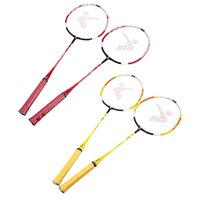 Wholesale 2Pcs Durable Lightweight Iron Alloy Fram Badminton Training Racket with Carry Bag In outdoor Sport Equipment