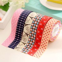 Wholesale New Design DIY Satin Lace Decorative Tape Woven Fabric Tape Stickers Masking Tape