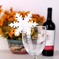 beer craft festival - Snow Leaf Shape Paper Crafts Snowflake Place Name Cards for Glass Wine Beer Christmas Winter Wedding Table Festival Decorations