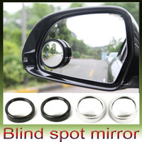 Wholesale 360 Degree Rotate Car Blind Mirror Car Auto Side Rearview Round convex Wide Spot Angle Blind Mirror Black Silver type R