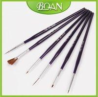 artificial nail brush - Set Artificial Nail Kits Brush Nail Art Designs Tools Painting Brush Nail Design