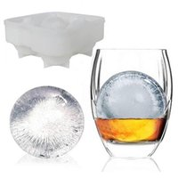 Wholesale 4 Large Sphere Molds Bar Drink Whiskey Ice ball Cube Maker Mold Mould Party Brick Round Tray Bar Tool Silicon
