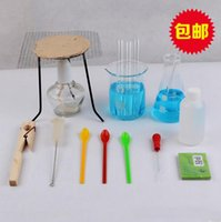 beaker stand - laboratory equipment set test tube Spoon glass dropper beaker tripod stand glass stirring rod Alcohol lamp Glass rod tripod asbestos net