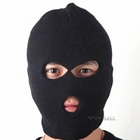 Wholesale Black Caddice Winter Warm Full Face Coverage Mask Headgear with Eyes Mouth Holes for Outdoor Cold Weather Activities