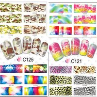 nail tattoo sticker - 30 Sheets Nail Art Water Transfer Sticker Nails Beauty Wraps Foil Full Cover Decals Temporary Tattoos Watermark C120