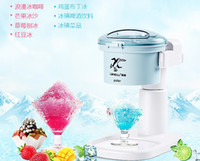 ice shaving machine - 2L electric ice crusher snow ice shaver shaved ice machine snow cone ice chopper V W stainless steel knife C001