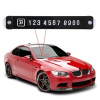 Wholesale Car Parking Notification Phone Number Card Luminous Telephone Number Metallic Plate for Vehicle Interior Brand New