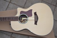 Wholesale 2015 New Style natural AAA Solid spruce TY Acoustic Electric Guitar In Stock