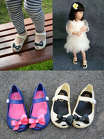 Wholesale NEW sweet summer household outdoor girls shoes loafers baby flat bow jelly toddler kids children beach sandals CSY01