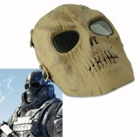 airsoft death - Plastic Adjustable Death Skull Airsoft Paintball Full Face Safe Protect Mask EQZ456