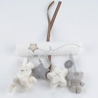 Wholesale 2015 New arrival cot hanging toy Baby Rattle Toy Soft Plush Rabbit Musical Mobile Products baby gift XMHM779