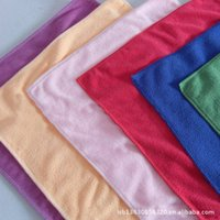 Cheap 200g m microfiber towel 30 * 30 nm clean absorbent cloth towel wipe car towel factory outlets