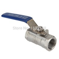 Wholesale Brand New inch RP RB Ball Valve Female NPT Stainless Steel Vinyl Handle WOG1000 For Water Oil Gas F to F order lt no track