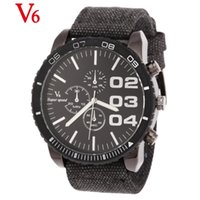 Cheap Wholesale-Fashion Hand-woven Fabric Band Watch Large Figures Wristwatches Buckle Japan Movement Military Watch relojes