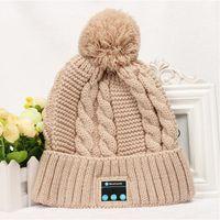 Prezzi Wool hat-2016 caldo cappello musica Bluetooth morbidi cappelli caldi berretto cuffia di lana caldo cappello vivavoce autunno e l'inverno del cappello di lana a maglia più nuovi 5 colori