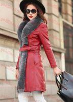 Women 100% leather jackets - Brand New genuine leather coat with big fox fur collar Womens down jacket sheepskin winter coats black Dropship