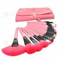 Wholesale 24pcs Makeup Brushes Professional Nude Makeup Brush Set Cosmetic Facial With Bag Colors Makeup Tools Factory DHL