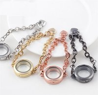 Cheap NEW Fashion 25mm Alloy Round Floating Charm Locket Bracelet Open Glass Magnet Photo Memory Living Locket ak036