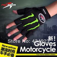 Wholesale Pro biker motorcycle gloves half finger gloves mesh cloth drop resistance gloves racing gloves bicycle glove bike gloves