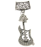 music charm pendant - 12pcs Promotion Charms Music White Diamonds Jewelry Pendant Scarf Women New Necklace Scarves Charm Diy Guitar Accessories Zh0025